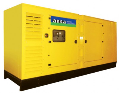 Дизельный генератор Aksa AC-400 в кожухе с АВР