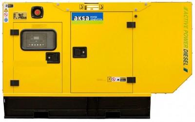Дизельный генератор Aksa AP 11 в кожухе с АВР