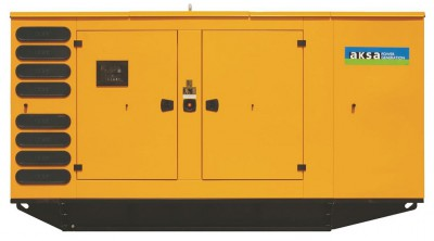 Дизельный генератор Aksa APD175C в кожухе