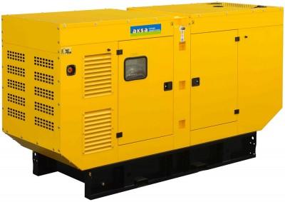 Дизельный генератор Aksa APD250A в кожухе