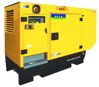 Дизельный генератор Aksa APD30C в кожухе