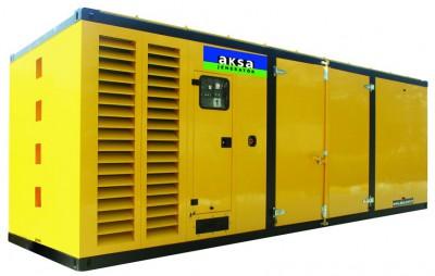 Дизельный генератор Aksa APD880M в кожухе