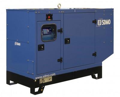 Дизельный генератор SDMO J77K в кожухе с АВР