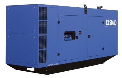 Дизельный генератор SDMO D300 в кожухе с АВР