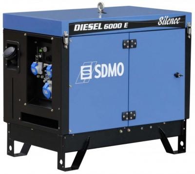 Дизельный генератор SDMO DIESEL 6000 E AVR SILENCE с АВР