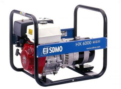 Бензиновый генератор SDMO HX 6000 C (HX 6000 S)