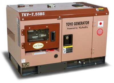 Дизельный генератор TOYO TKV-7.5SBS
