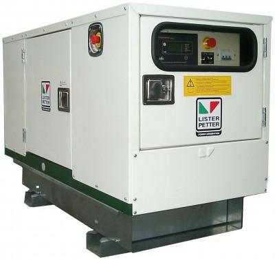 Дизельный генератор Lister Petter LWA 10 3 фазы в кожухе