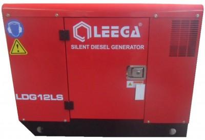 Дизельный генератор Leega LDG12 LS 3 фазы в кожухе