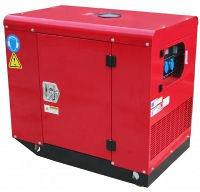 Бензиновый генератор Leega LT11000CLE 3 фазы в кожухе