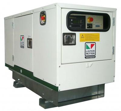 Дизельный генератор Lister Petter LWA 15 3 фазы в кожухе