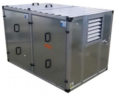 Бензиновый генератор Kipor KGE 12 E в контейнере с АВР