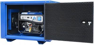 Бензиновый генератор ТСС SGG 7000E в кожухе МК-1