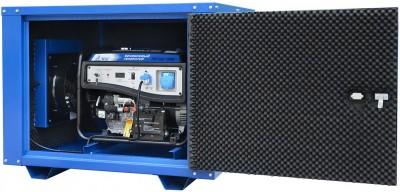 Бензиновый генератор ТСС SGG 7500E в кожухе МК-1